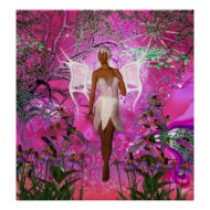 Fantasy Art Poster Pink Pixie