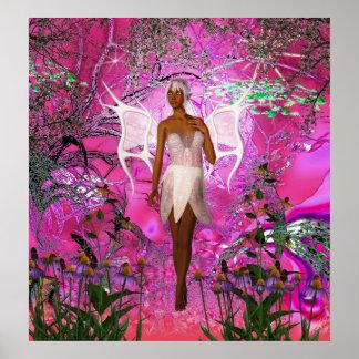 Fantasy Art Poster Pink Pixie