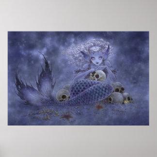 Fantasy Art Print - Dark Mermaid