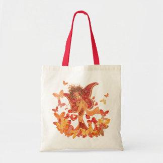 Fantasy Art Tote Bag - Crimson Wings