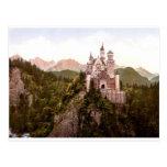 fantasy-art-wallpaper-34, castillo de Neuschwanste Tarjeta Postal