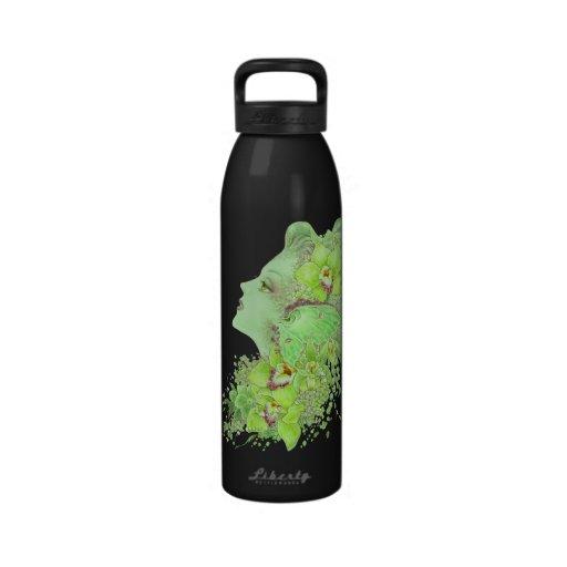 Fantasy Art Water Bottle - The Green Faery