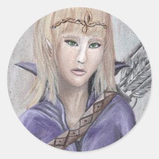 Fantasy Art Wildling Elf Warrior Princess Sticker
