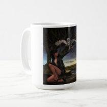 Fantasy Art Woman and Owl Mug