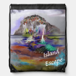 Fantasy-Arty Design from Digital Abstract Painting Backpacks