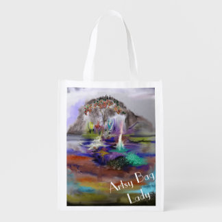 Fantasy-Arty Design from Digital Abstract Painting Market Totes
