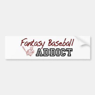 Fantasy Baseball Addict Car Bumper Sticker