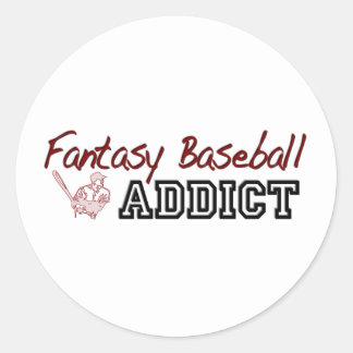 Fantasy Baseball Addict Classic Round Sticker