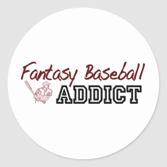 Fantasy Baseball Addict Classic Round Sticker