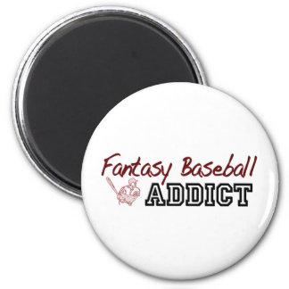 Fantasy Baseball Addict 2 Inch Round Magnet
