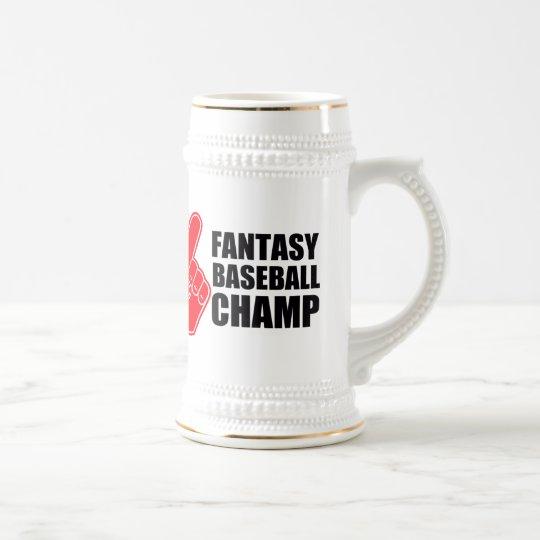 Fantasy Baseball Champ Beer Stein