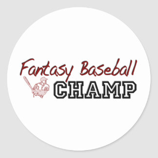 Fantasy Baseball Champ Classic Round Sticker