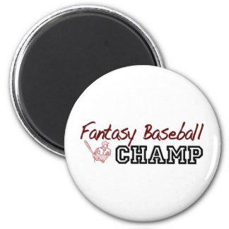 Fantasy Baseball Champ 2 Inch Round Magnet
