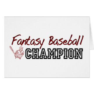 Fantasy Baseball Champion Cards