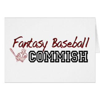 Fantasy Baseball Commish Card