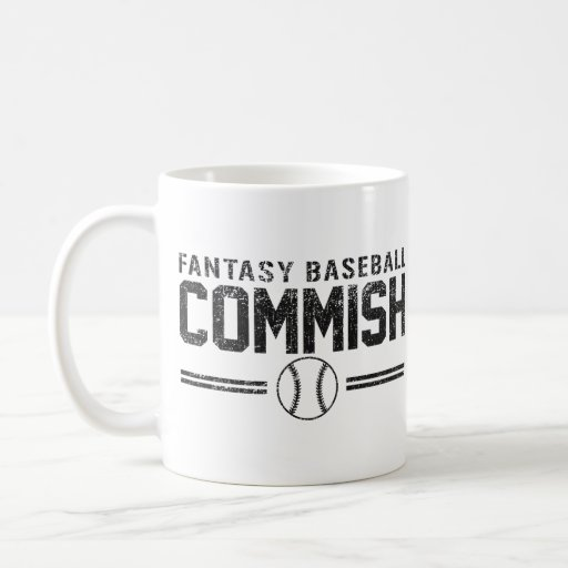 Fantasy Baseball Commish Coffee Mugs