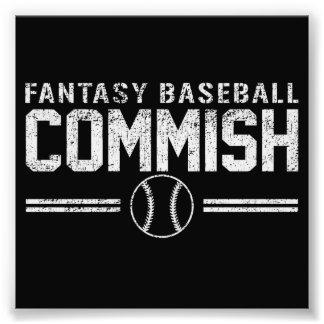 Fantasy Baseball Commish Photo Print