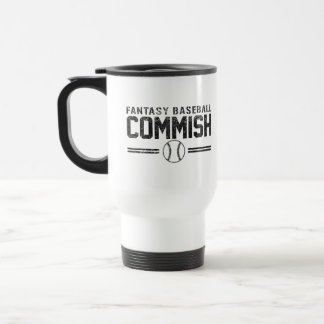 Fantasy Baseball Commish Travel Mug