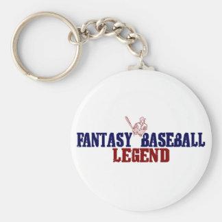 Fantasy Baseball Legend Basic Round Button Keychain