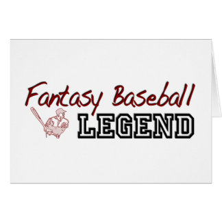Fantasy Baseball Legend Card