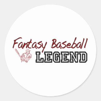 Fantasy Baseball Legend Classic Round Sticker