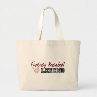 Fantasy Baseball Legend Large Tote Bag