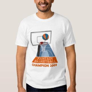 Fantasy Basketball Champion 2009 White T Shirt