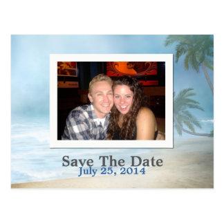 Fantasy Beach Custom Photo Wedding Save The Date Postcard