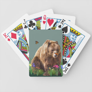 Fantasy Bear and Butterflies Customizable Bicycle Playing Cards