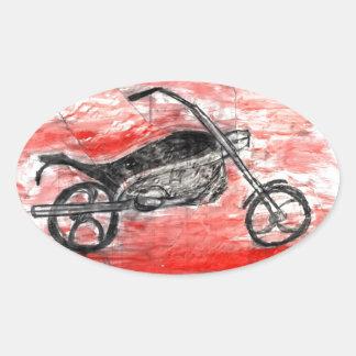 Fantasy Bike Oval Sticker