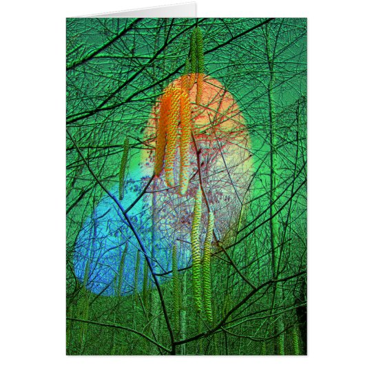 Fantasy Birch Catkins Note Card
