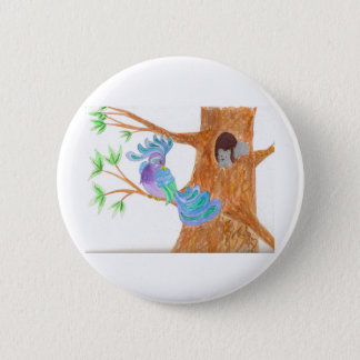 Fantasy Bird by Wendy C. Allen Pinback Button