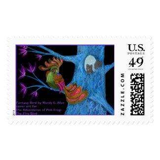 Fantasy Bird by Wendy C. Allen Postage
