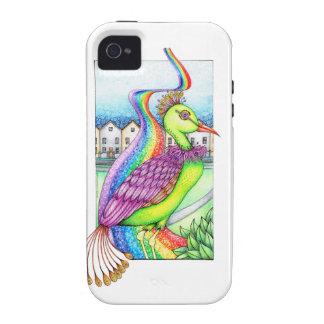 Fantasy bird on a rainbow iPhone 4 covers