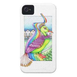 Fantasy bird on a rainbow Case-Mate iPhone 4 case