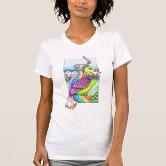 Fantasy bird on a rainbow t-shirts