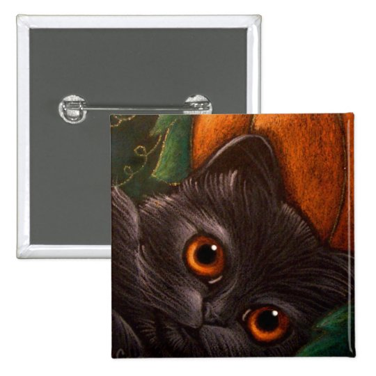 FANTASY BLACK CAT HALLOWEEN Button