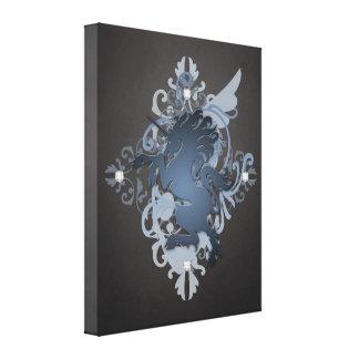 Fantasy Black Unicorn Enchanting Canvas Print
