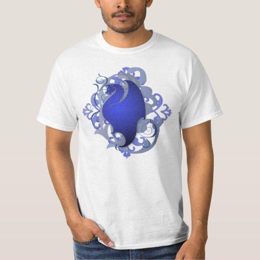 Fantasy Blue Dragon Grunge Mens T-Shirt