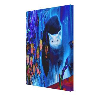 Fantasy Blue Siamese Cat Canvas Print