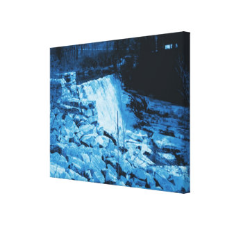Fantasy Blue Tint Water Dam Wrapped Canvas Canvas Prints