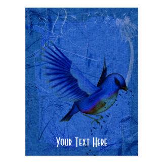 Fantasy Bluebird Nature Customizable Postcard