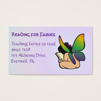 Fantasy book lover's calling card