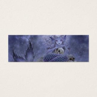 Fantasy Bookmark - Dark Mermaid Mini Business Card