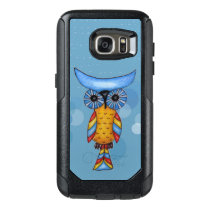 Fantasy Bright Colorful Owl On blue Circles Dashes OtterBox Samsung Galaxy S7 Case