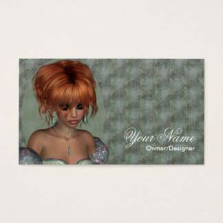 Fantasy Business Card - Red Hair Fairy