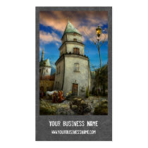 digital art, surreal, unique, trendy, business card, mysterious, medieval, illustration, fantasy, scenery, design, bestseller, profile card, designers, houk, travel, modern, unicorn, market, buildings, square, hall, city, old, ages, kind, town, people, trade, middle, Business Card with custom graphic design
