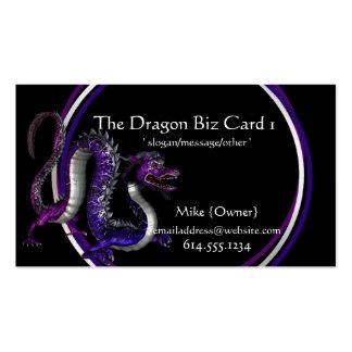 Fantasy Business Cards :: Purple & Blue Dragon