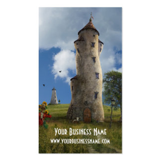 Fantasy Business Cardwith towers Business Card