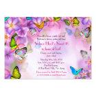 Fantasy Butterflies Flowers Sweet 16 Invitation